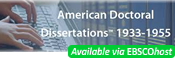 American Doctoral Dissertations, 1933-1955